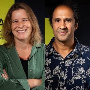 """Roberto Manhães Reis e Viola Scheuerer, diretores de """"Gilda Brasileiro - Cont..."""