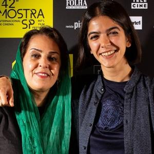Tahereh Saeidi Balsini e Solmaz, esposa e filha de Jafar Panahi