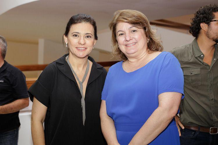 Renata de Almeida (diretora da Mostra) e Débora Ivanov (Diretora Presidente da Ancine)