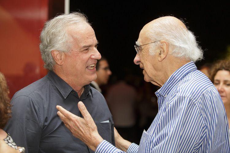 Maurício Andrade Ramos (produtor) e Zuenir Ventura (jornalista)