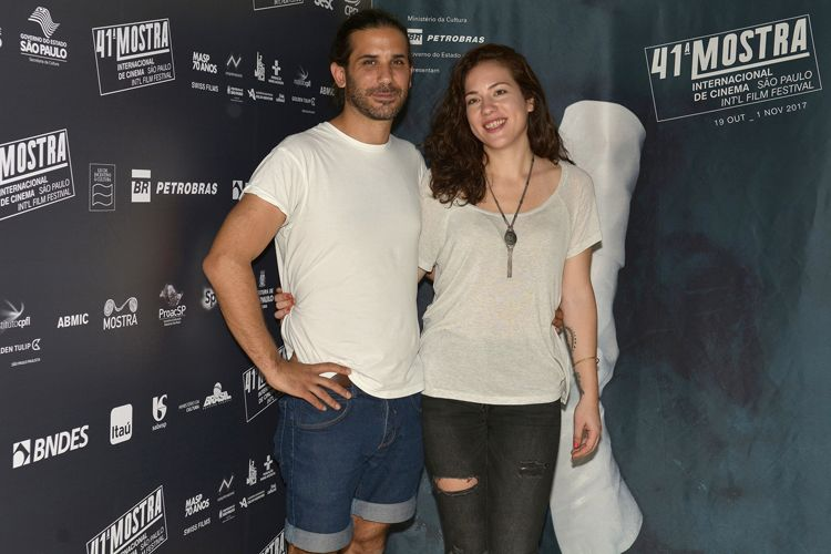 Yvann Yagchi (diretor do filme Acta Non Verba) e Aurora Vögeli (montadora)