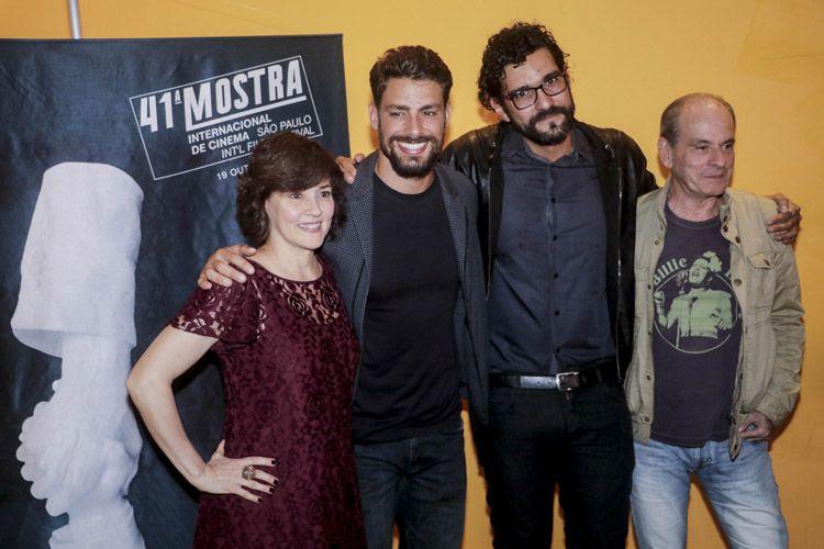 Cinearte 1 / Claudia Assunção (atriz), Cauã Reymond (ator), Felipe Bragança (diretor), Ney Matogrosso (ator e cantor), presentes na sessão do filme Não Devore Meu Coração