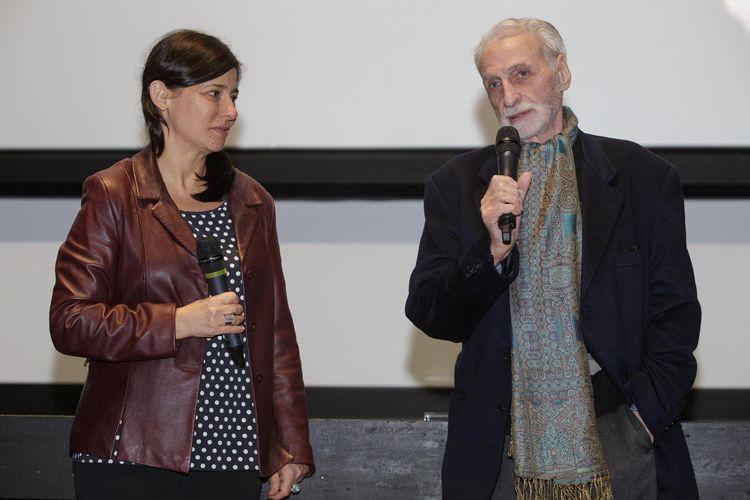 Cinesesc / A diretora da Mostra Renata de Almeida e o diretor homenageado Paul Vecchiali