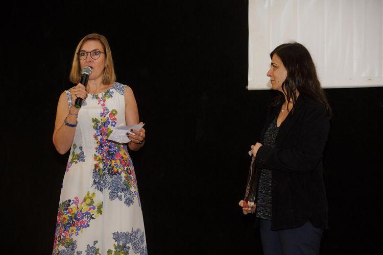 Cine Caixa Belas Artes 2 / Homenagem a Alain Tanner – Entrega do Prêmio Leon Cakoff / Catherine Ann Berger, diretora da Swiss Films, e Renata de Almeida, diretora da Mostra