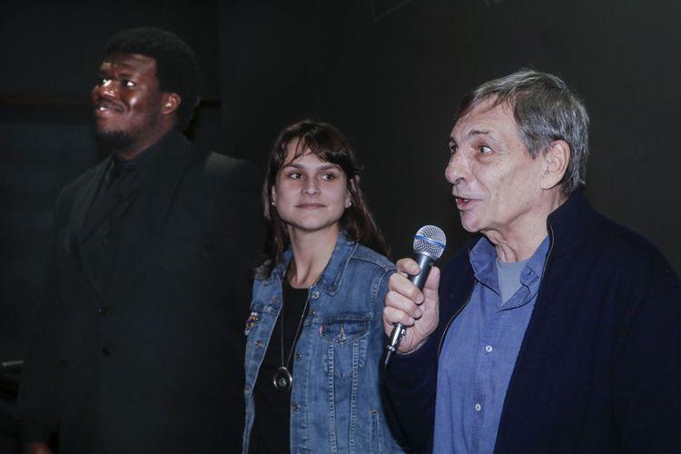 Reserva Cultural 2 / Sessão do filme Praça Paris, de Lucia Murat. Digão Ribeiro (ator), Gabriela Amadei (produtora) e Jean-Thomas Bernardini (da Imovision)