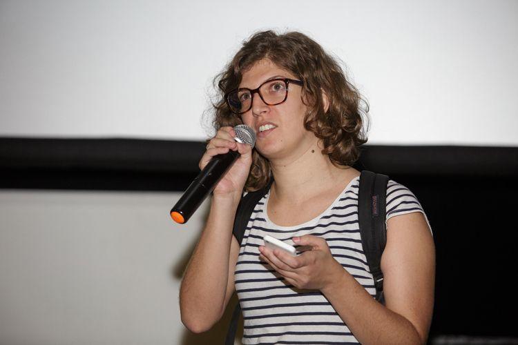 Espaço Itaú de Cinema - Frei Caneca 1 / Júlia Alves, representante de Nelson Carlo de los Santos Arias, lê carta ao público que o diretor enviou