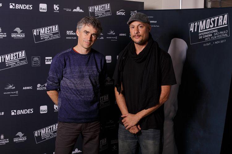 Samuel Chalard, diretor do filme Favela Olímpica e Serge Pirodeau, diretor de fotografia