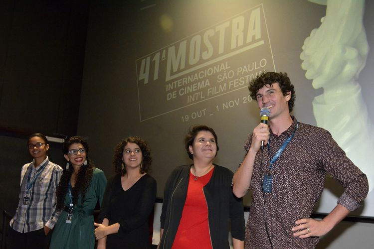 Reserva Cultural 2 / Quentin Delaroche, diretor de Camocim, apresenta sua equipe e fala antes da exibição de seu filme