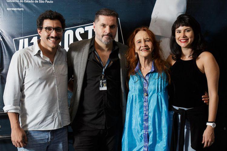Cinesesc / Cristiano Burlan, diretor de Antes do Fim, com a equipe do filme