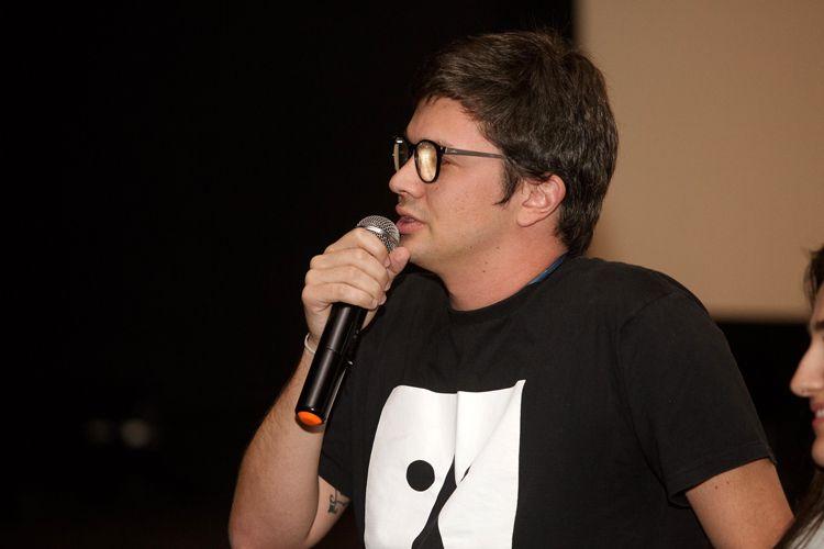 Espaço Itaú de Cinema – Augusta 1 / Pedro Perazzo, roteirista, fala à plateia antes da exibição do filme Homem Livre