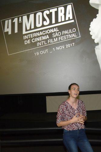 Espaço Itaú de Cinema – Frei Caneca 1 / A produtora Greta Nordio fala com o público antes da exibição do filme Nico, 1988, de Susana Nicchiarelli