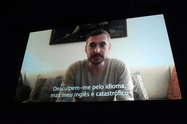 Cinearte 1 / Por vídeo, o diretor de Custória, Xavier Legrand (França), agradece o Prêmio da Crítica de Melhor Filme Internacional