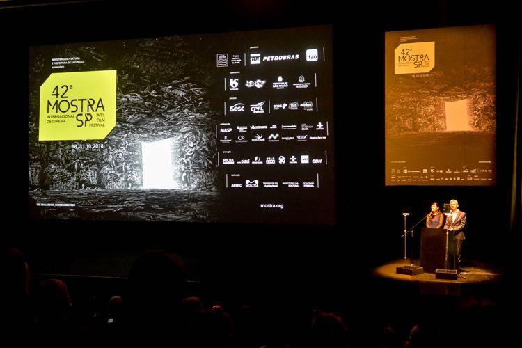 Auditório Ibirapuera /42ª Mostra Internacional de Cinema/São Paulo Int`l Film Festival - Cerimônia de Abertura - Serginho Groisman e Renata de Almeida