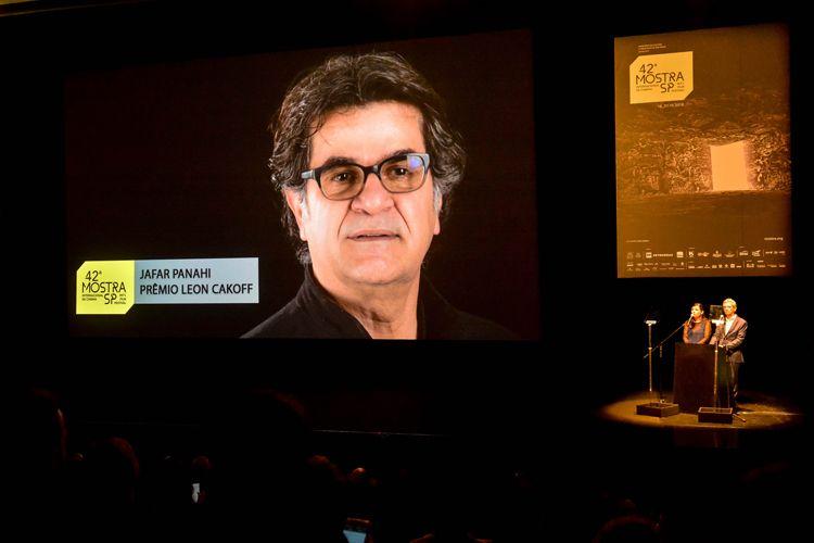 Auditório Ibirapuera /42ª Mostra Internacional de Cinema/São Paulo Int`l Film Festival - Cerimônia de Abertura  - Vídeo de Jafar Panahi, Prêmio Leon Cakoff
