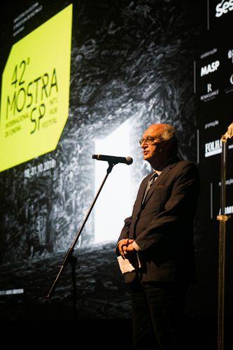 Auditório Ibirapuera /42ª Mostra Internacional de Cinema/São Paulo Int`l Film Festival - Cerimônia de Abertura - Mario Mazzilli, Diretor Superintendente do Instituto CPFL