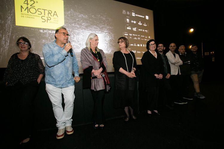 Espaço Itaú de Cinema Augusta/ 42ª Mostra Internacional de Cinema/São Paulo Int`l Film Festival/ Apresentação do filme As Quatro Irmãs - Evaldo Mocarzel e equipe