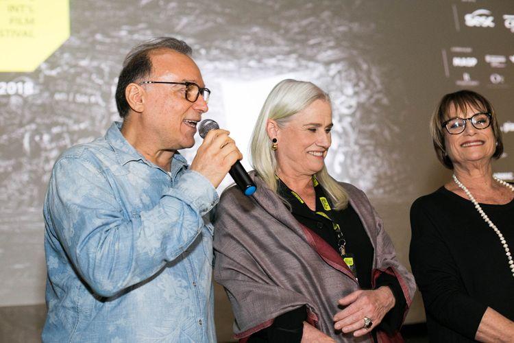 Espaço Itaú de Cinema Augusta/ 42ª Mostra Internacional de Cinema/São Paulo Int`l Film Festival/ Apresentação do filme As Quatro Irmãs -Evaldo Mocarzel, Vera Holtz e Rosa Holtz