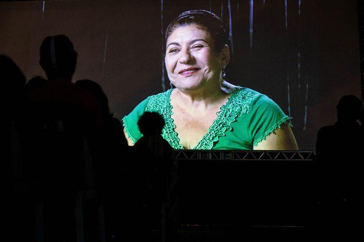 Vão livre do MASP/ 42ª Mostra Internacional de Cinema/São Paulo Int`l Film Festival - Exibição do filme As Canções de Eduardo Coutinho
