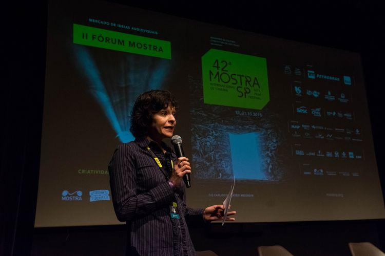 Itaú Cultural/ 42ª Mostra Internacional de Cinema/São Paulo Int`l Film Festival/ II Fórum Mostra - Criatividade, Economia e Política - Ana Paula Sousa fala na abertura do II Fórum Mostra
