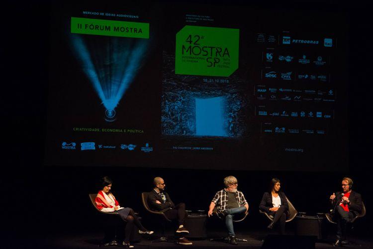 Itaú Cultural/ 42ª Mostra Internacional de Cinema/São Paulo Int`l Film Festival/ II Fórum Mostra - Mesa 1 - Fim das Fronteiras: mescla entre linguagens e formatos - Murilo Hauser (diretor), Otto Guerra (diretor), Priscila Guedes (Anablps XR) e Nicolas Champeaux (diretor)