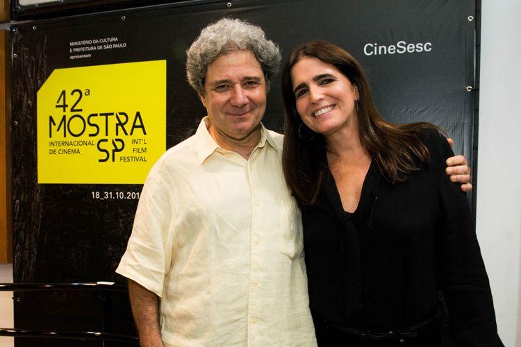 42ª Mostra Internacional de Cinema/São Paulo Int`l Film Festival - Roberto Gervitz, diretor, e Malu Mader, atriz do filme Feliz Ano Velho