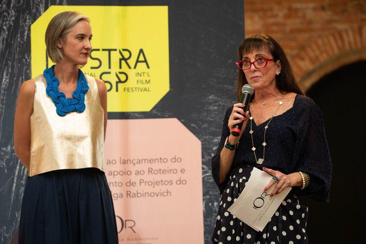 Cinemateca Brasileira/ 42ª Mostra Internacional de Cinema/São Paulo Int`l Film Festival - Entrega do Prêmio Olga Rabinovich. Josephine Burgois e Olga Rabinovich