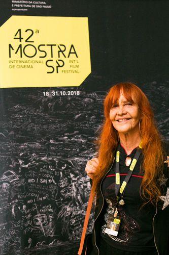 42ª Mostra Internacional de Cinema/São Paulo Int`l Film Festival - Helena Ignez, atriz do filme O Bandido da Luz Vermelha