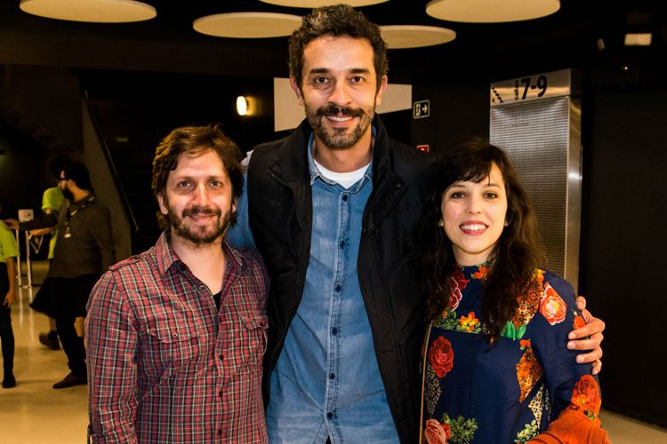 42ª Mostra Internacional de Cinema/São Paulo Int`l Film Festival - Henrique Landulfo, Paulo Azevedo e Sara Antunes do filme Alma Clandestina