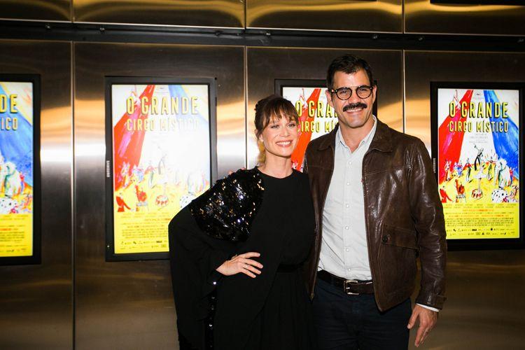 42ª Mostra Internacional de Cinema/São Paulo Int`l Film Festival - Mariana Ximenes e Juliano Cazarré, atores do filme O Grande Circo Místico