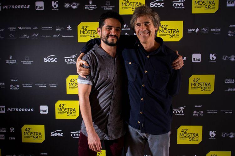 42ª Mostra Internacional de Cinema/São Paulo Int`l Film Festival - Vinícius de Oliveira, ator, e Walter Salles, diretor de Central do Brasil