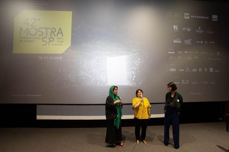 Reserva Cultural 1/ 42ª Mostra Internacional de Cinema/São Paulo Int`l Film Festival -  Apresentação do filme 3 Faces com Tahereh Saeidi Balsini e Solmaz Panahi, esposa e filha Jafar Panahi, representando o diretor