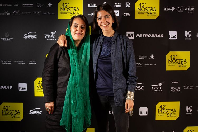 42ª Mostra Internacional de Cinema/São Paulo Int`l Film Festival -  Tahereh Saeidi Balsini e Solmaz Panahi, esposa e filha de Jafar Panahi