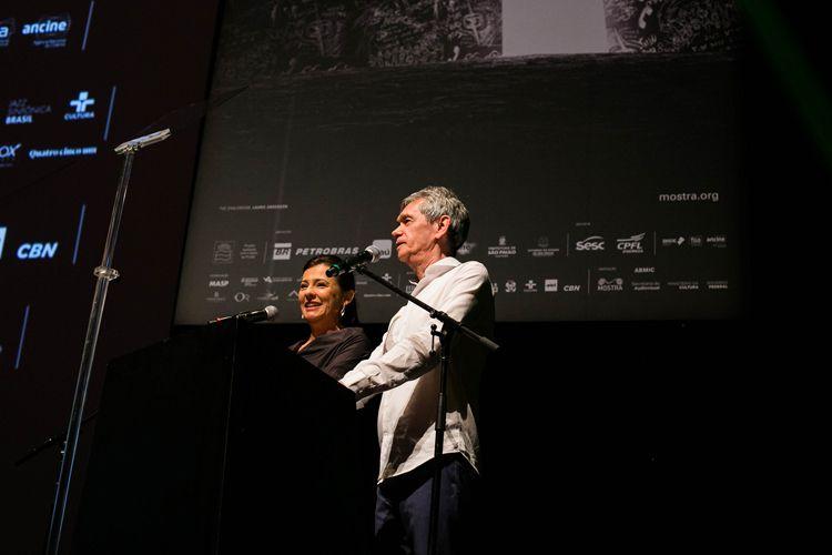 Auditorio Ibirapuera/ 42ª Mostra Internacional de Cinema/São Paulo Int`l Film Festival - Cerimônia de Premiação e Encerramento - Renata de Almeida e Serginho Groisman