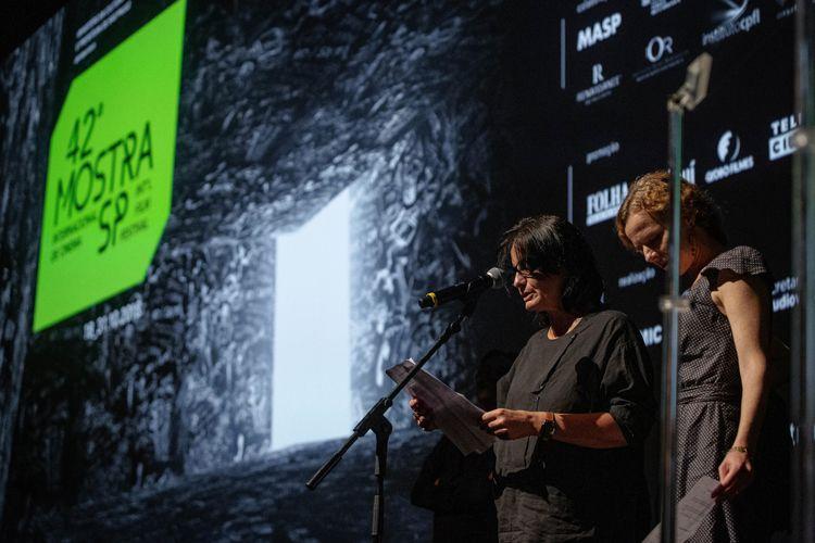 Auditório Ibirapuera/42ª Mostra Internacional de Cinema/São Paulo Int`l Film Festival - Cerimônia de Premiação e Encerramento  - Teresa Villaverde e Astrid Adverbe, membros do Juri Internacional
