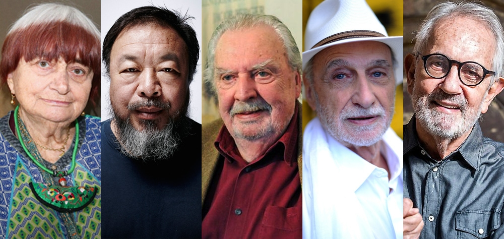Agnès Varda, Ai Weiwei, Alain Tanner, Paul Vecchiali and Paulo José were honored at the 41st Mostra